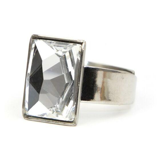 Caroling Swarovski® kristályos nemesacél gyűrű - Crystal