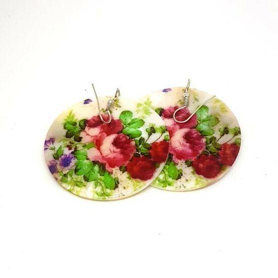 Clau - Virágos bohém bizsu fülbevaló