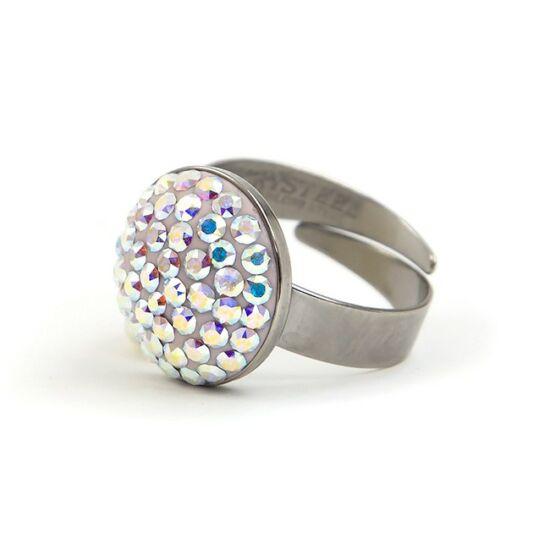 Dina Swarovski® kristályos nemesacél gyűrű - Crystal AB