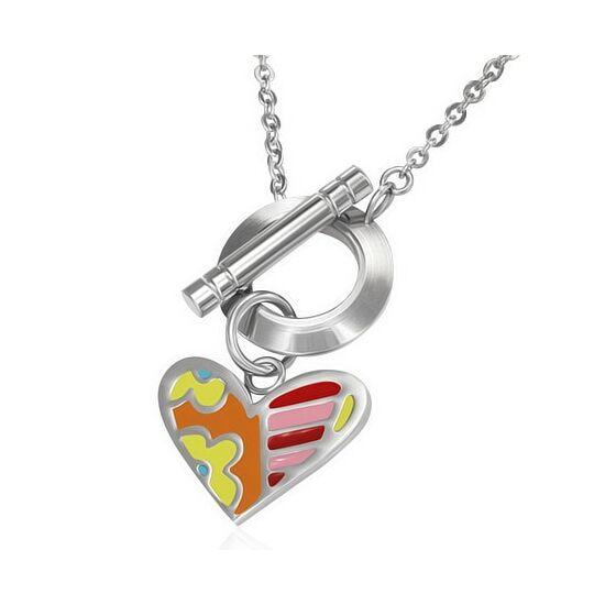 Divat nyaklánc  szív medállal