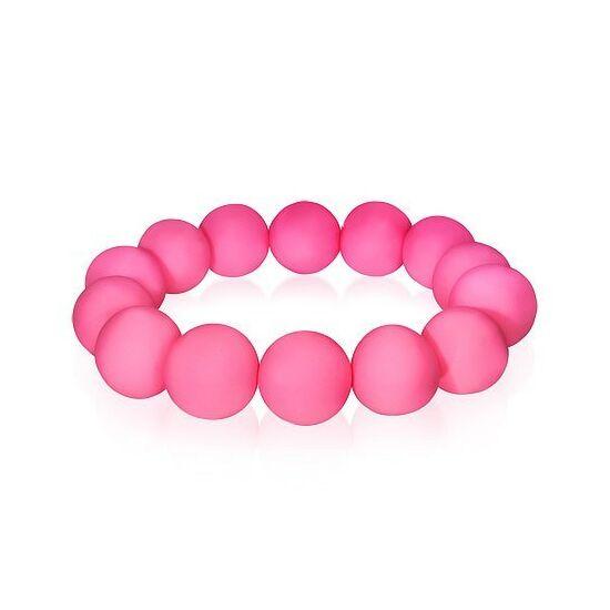 Divatos pink gyöngyös bizsu karkötő
