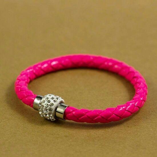 Divatos shamballa karkötő - pink