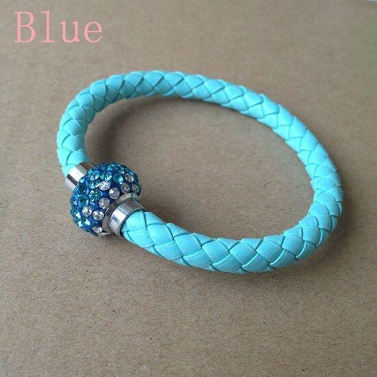 Divatos shamballa karkötő - világos kék