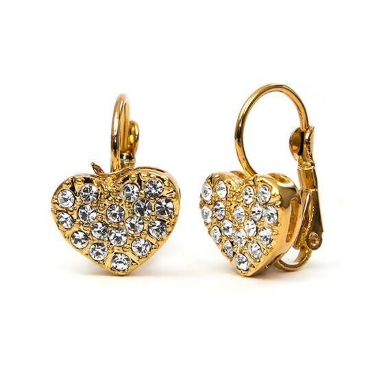 Ella Swarovski kristályos szív alakú fülbevaló