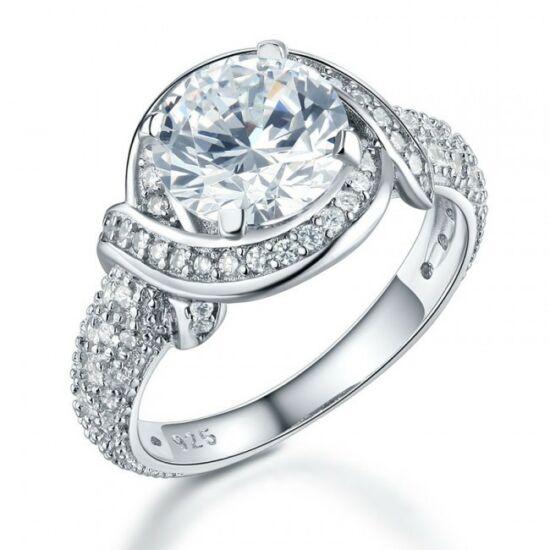Ezüst gyémánt gyűrű-5