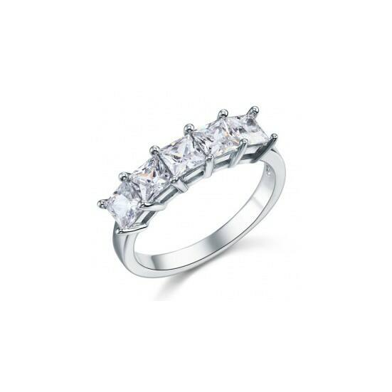 Ezüst gyémánt gyűrű-6