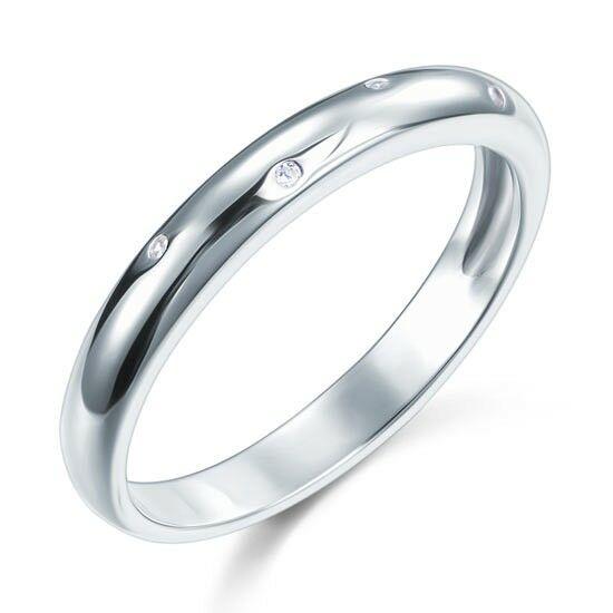 Ezüst gyűrű apró kövekkel-8