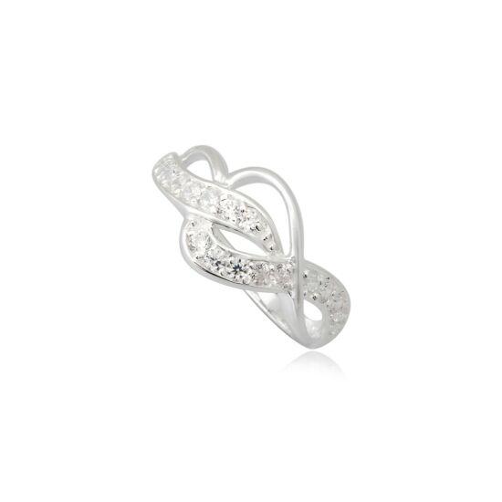 Ezüst gyűrű fehér cirkónia kristállyal-7