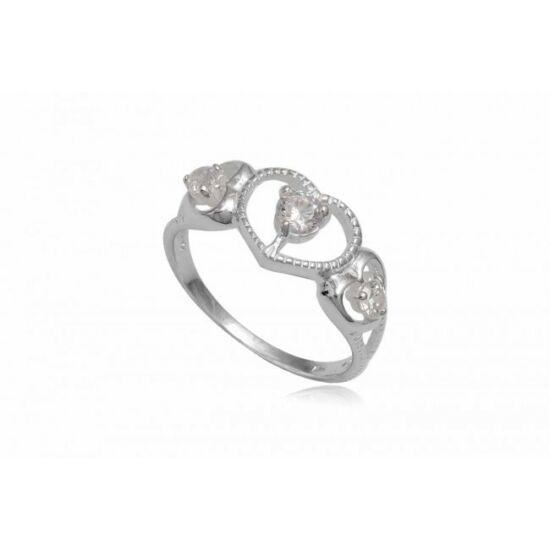 Ezüst gyűrű fehér cirkónia kristállyal-8