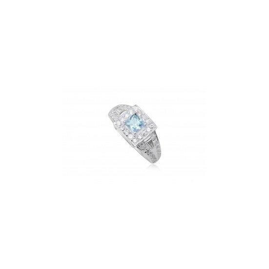 Ezüst gyűrű világoskék cirkónia kristállyal-6