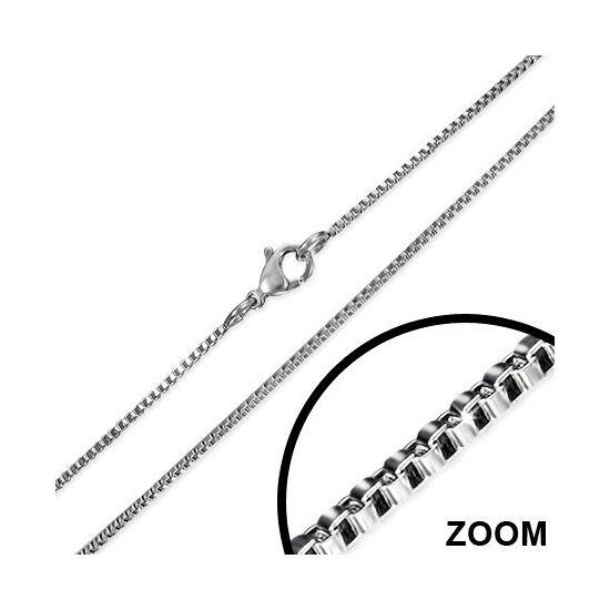 Ezüst színűnemesacél nyaklánc ékszer