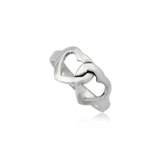 Ezüst szív alakú gyűrű-9
