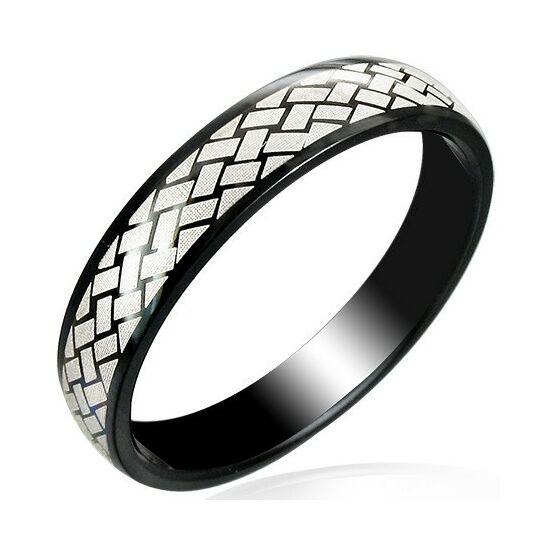 Fekete színű nemesacél gyűrű ékszer