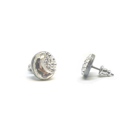 Félhold Swarovski® kristályos nemesacél fülbevaló - Crystal AB