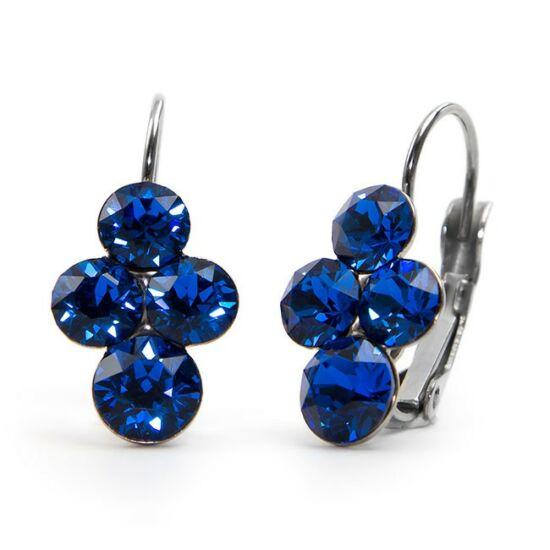 Fürt Swarovski® kristályos nemesacél fülbevaló - Capri Blue