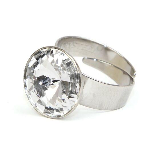 Hold SWAROVSKI® kristályos nemesacél gyűrű - Crystal