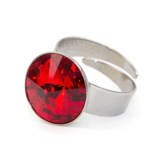 Hold Swarovski® kristályos nemesacél gyűrű - Light Siam