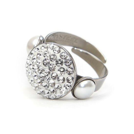 Iril Swarovski® kristályos nemesacél gyűrű - Crystal