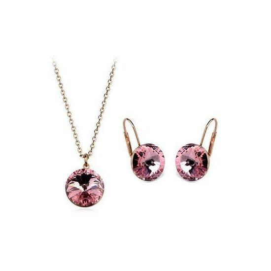 -Italina- pink kristályos ékszerszett - 847