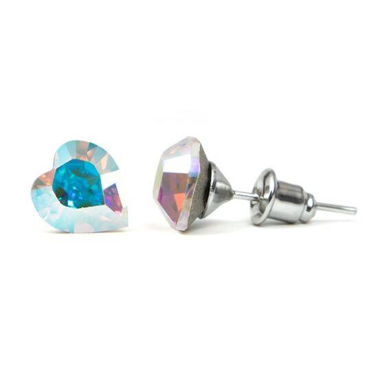 Jazzy Swarovski kristályos fülbevaló - Szív Crystal AB