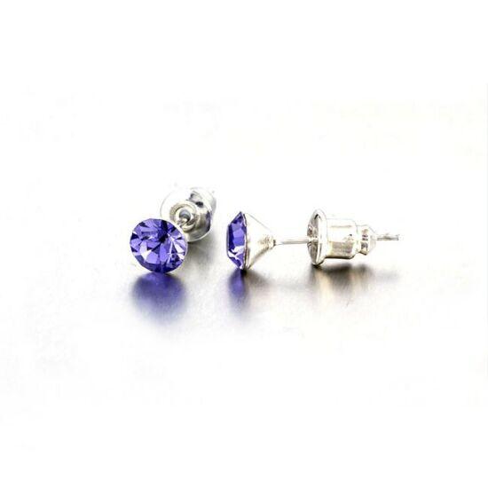 Jazzy Swarovski® kristályos fülbevaló - Kerek Lila
