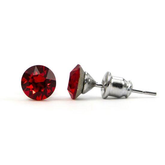 Jazzy SWAROVSKI® kristályos fülbevaló - Kerek Piros