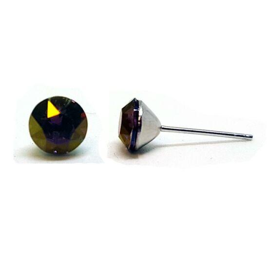 Jazzy Swarovski® kristályos fülbevaló - Lilac Shadow