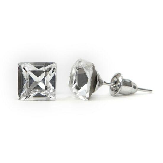 Jazzy SWAROVSKI® kristályos fülbevaló - Négyzet Crystal