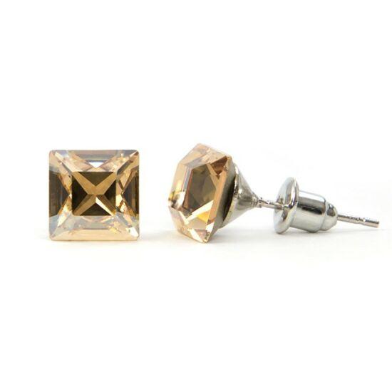 Jazzy Swarovski® kristályos fülbevaló - Négyzet Golden Shadow