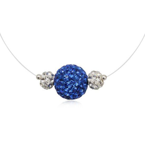 Kék színű ezüst nyaklánc - 925 ezüst ékszer