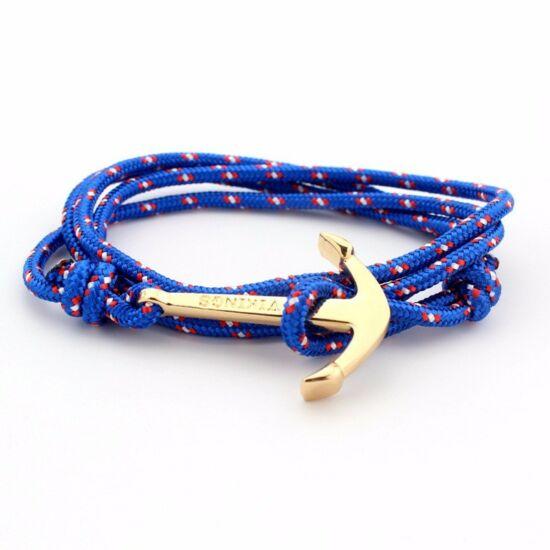 Kék színű horgonyos karkötő