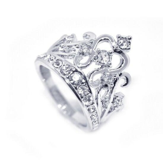 Korona alakú, Swarovski kristályos gyűrű-6
