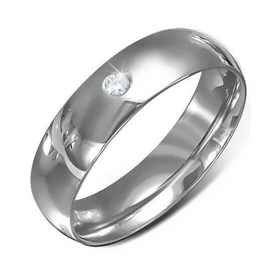 Köves nemesacél gyűrű ékszer