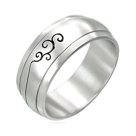 Középen forgó nemesacél gyűrű ékszer