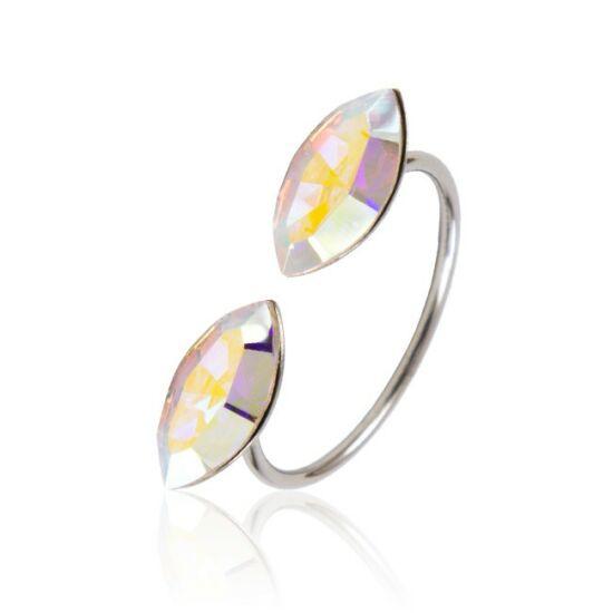 Marquise Swarovski® kristályos nemesacél gyűrű - Crystal AB