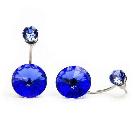Moon Swarovski kristályos nemesacél fülbevaló - Bermuda Blue