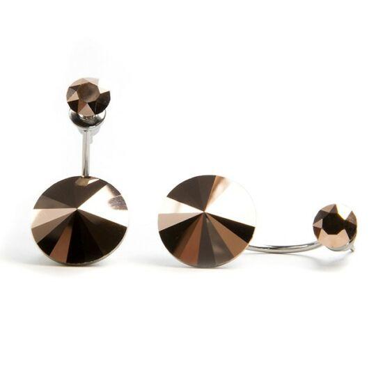 Moon Swarovski® kristályos nemesacél fülbevaló - Bronze