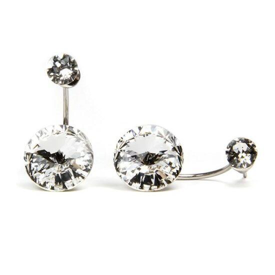 Moon Swarovski® kristályos nemesacél fülbevaló - Crystal