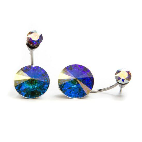 Moon Swarovski® kristályos nemesacél fülbevaló - Crystal AB