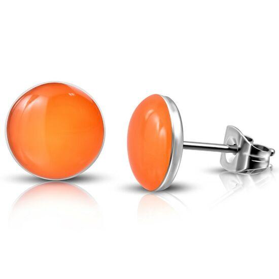 Narancssárga színű pont nemesacél fülbevaló ékszer