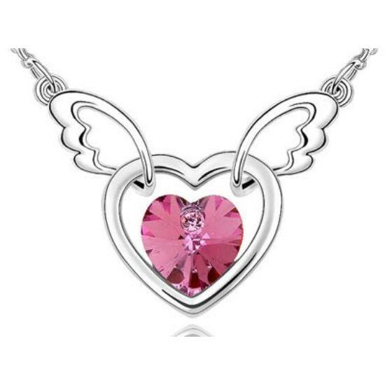 Pink dupla szíves nyaklánc-374