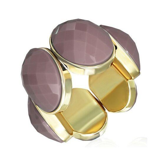 Rózsaszín, Burgundy köves, rugalmas divatos karkötő ékszer