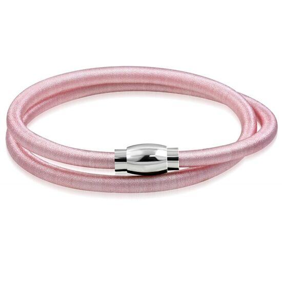 Rózsaszín színű rugalmas nyaklánc ékszer, mágneses zárral
