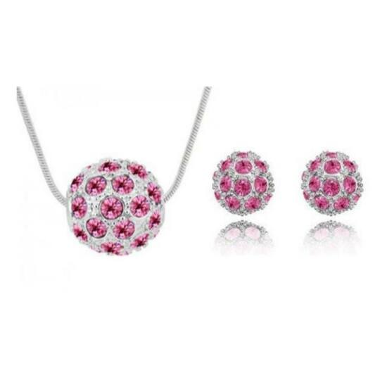 Shamballa szett - Rose red