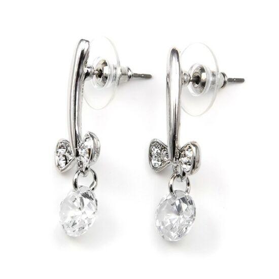 Sneezy Swarovski kristályos fülbevaló - Áttetsző kristállyal
