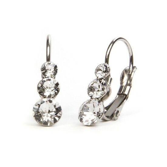 Snowman Swarovski® kristályos nemesacél fülbevaló - Crystal