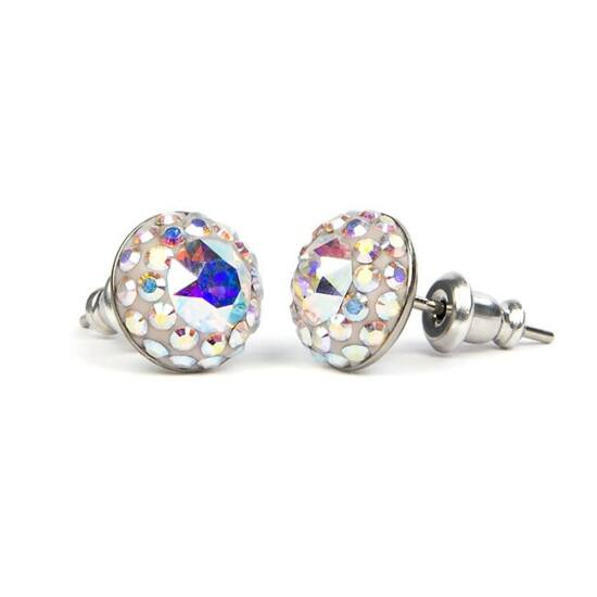 Suny Swarovski kristályos nemesacél fülbevaló - Crystal AB