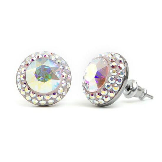 Suny Swarovski® kristályos nemesacél fülbevaló - Crystal AB