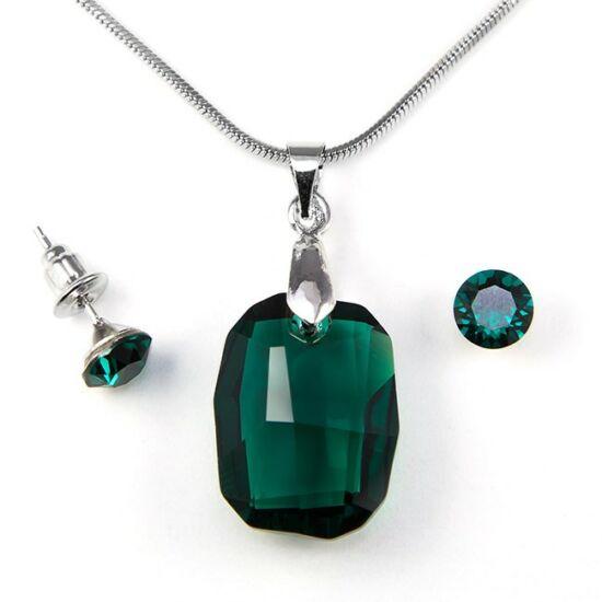 Swarovski kristályos ékszerszett - Graphic 19 mm, Emerald + díszdoboz