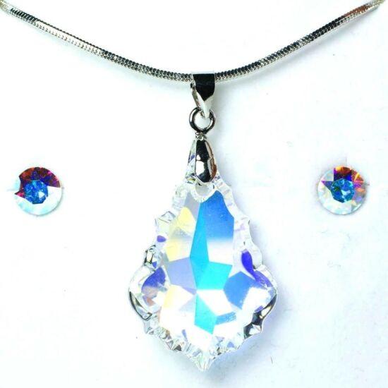 Swarovski kristályos ékszerszett - Mariat 22 mm, Crystal AB + díszdoboz